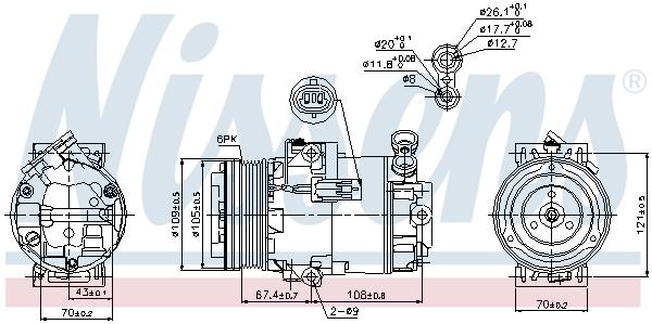 Kompresor klimatizace NISSENS 89222