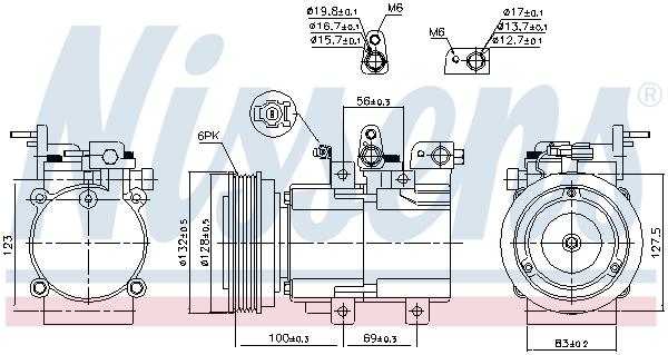 Kompresor klimatizace NISSENS 89238