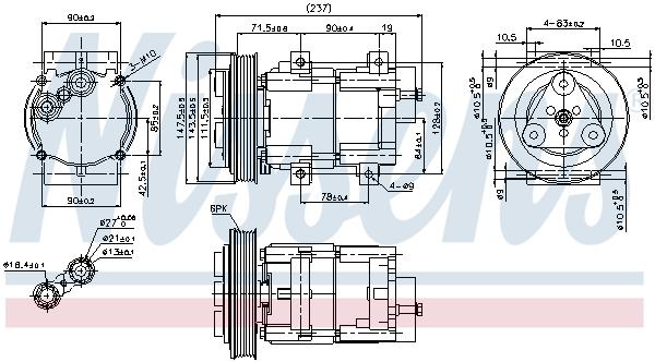Kompresor klimatizace NISSENS 89251