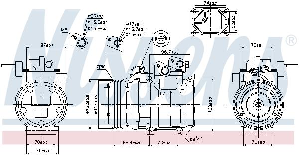 Kompresor klimatizace NISSENS 89256