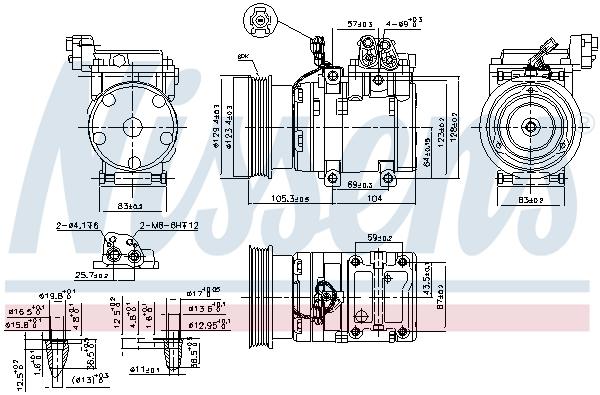 Kompresor klimatizace NISSENS 89262