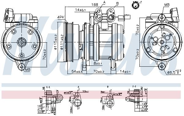 Kompresor klimatizace NISSENS 89263