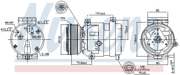 Kompresor klimatizace NISSENS 89267
