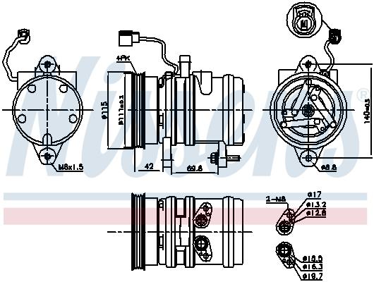 Kompresor klimatizace NISSENS 89272