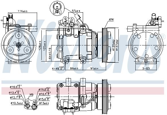 Kompresor klimatizace NISSENS 89274