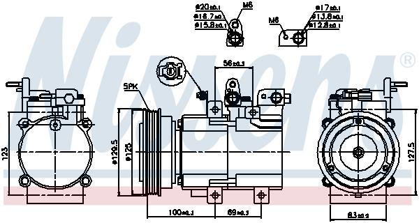 Kompresor klimatizace NISSENS 89276