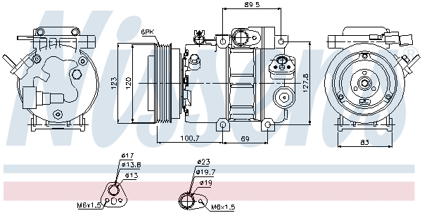 Kompresor klimatizace NISSENS 89278