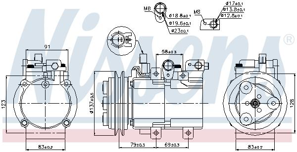 Kompresor klimatizace NISSENS 89282