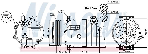 Kompresor klimatizace NISSENS 89284