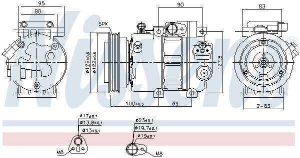 Kompresor klimatizace NISSENS 89292
