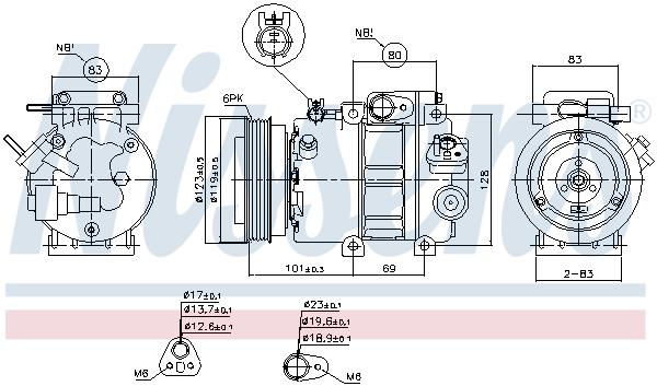 Kompresor klimatizace NISSENS 89293