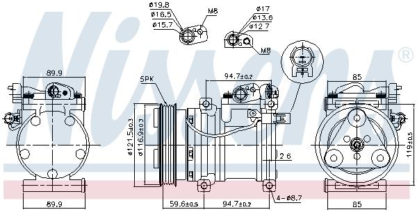 Kompresor klimatizace NISSENS 89294