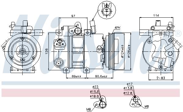 Kompresor klimatizace NISSENS 89296