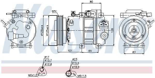 Kompresor klimatizace NISSENS 89298
