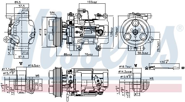 Kompresor klimatizace NISSENS 89351