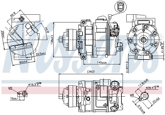 Kompresor klimatizace NISSENS 89418