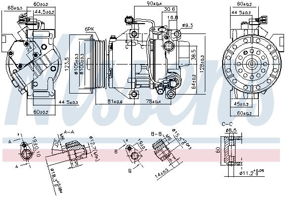 Kompresor klimatizace NISSENS 89443