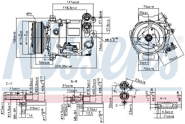 Kompresor klimatizace NISSENS 89465