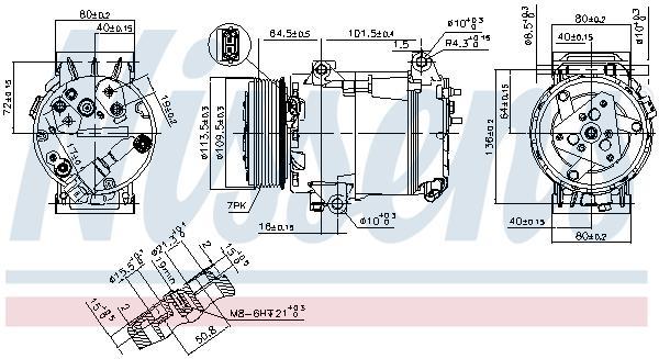 Kompresor klimatizace NISSENS 89481