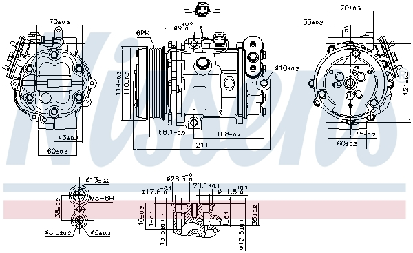 Kompresor klimatizace NISSENS 89503