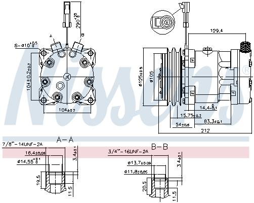Kompresor klimatizace NISSENS 89518
