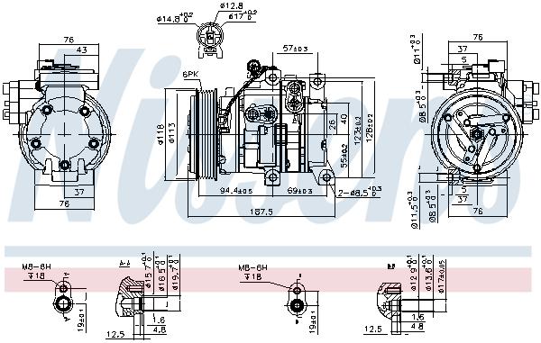 Kompresor klimatizace NISSENS 89533