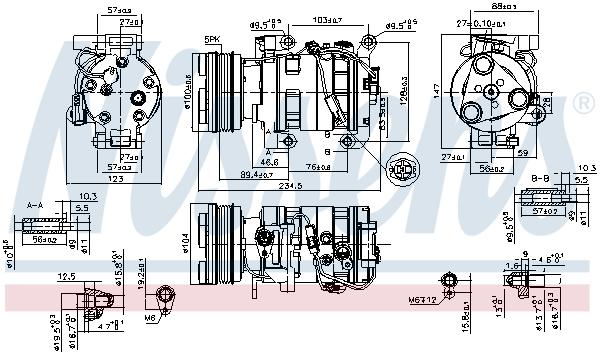 Kompresor klimatizace NISSENS 89550