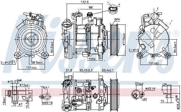 Kompresor klimatizace NISSENS 89593