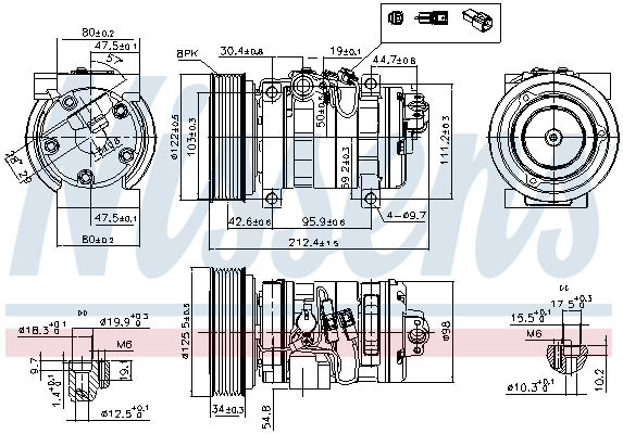 Kompresor klimatizace NISSENS 89609
