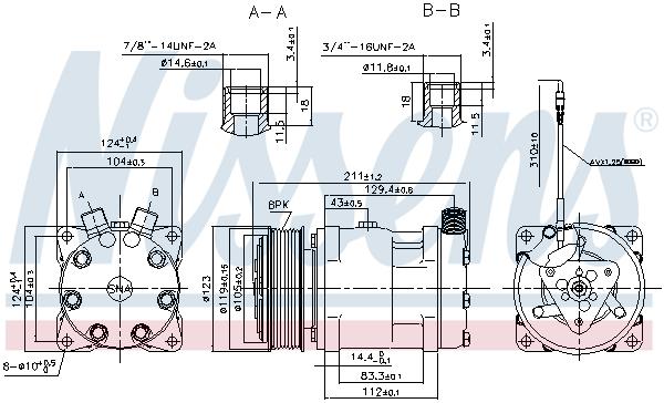 Kompresor klimatizace NISSENS 89632