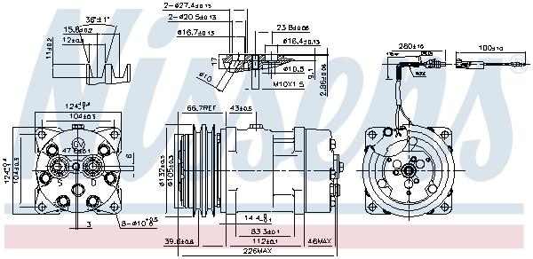 Kompresor klimatizace NISSENS 899929