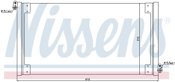 Kondenzátor klimatizace NISSENS 940025