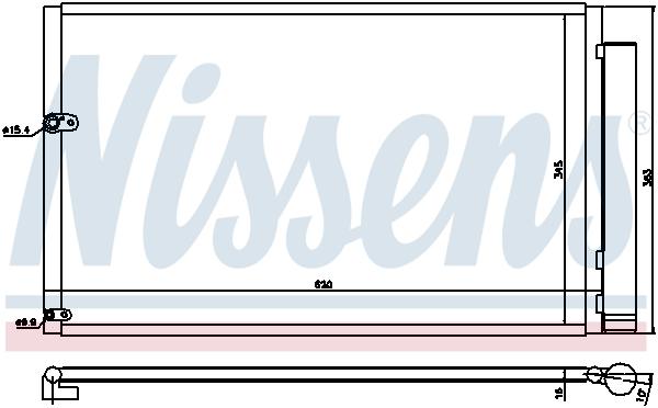 Kondenzátor klimatizace NISSENS 940047