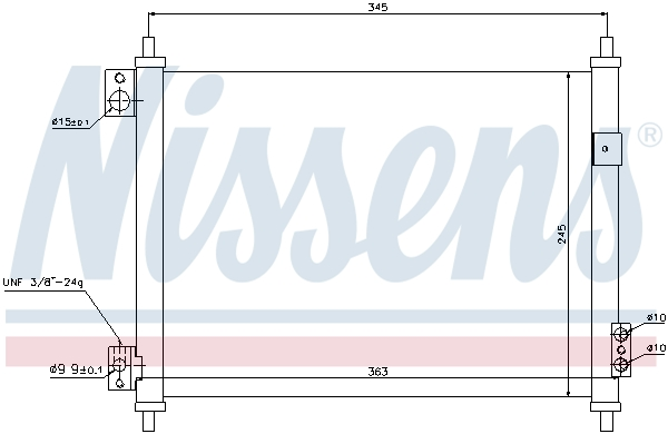 Kondenzátor klimatizace NISSENS 940078