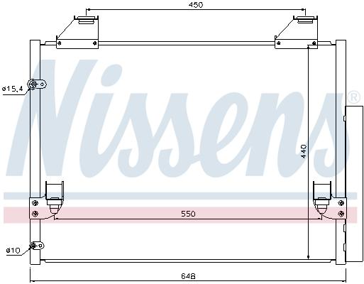 Kondenzátor klimatizace NISSENS 940083