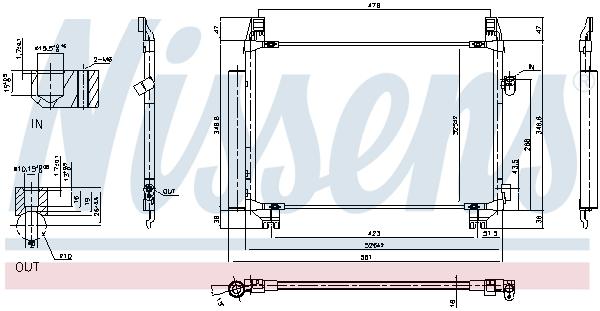 Kondenzátor klimatizace NISSENS 940085