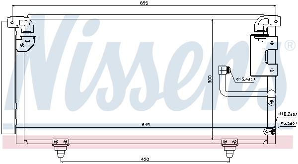 Kondenzátor klimatizace NISSENS 940091