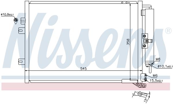 Kondenzátor klimatizace NISSENS 940125