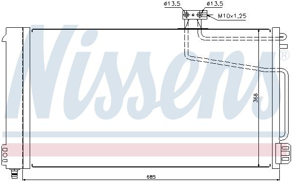 Kondenzátor klimatizace NISSENS 940145