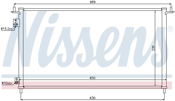 Kondenzátor klimatizace NISSENS 940162