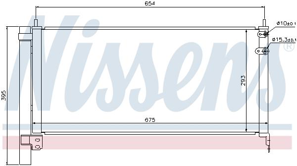 Kondenzátor klimatizace NISSENS 940175