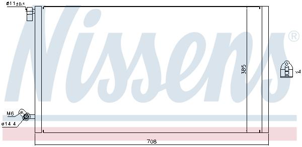 Kondenzátor klimatizace NISSENS 940187