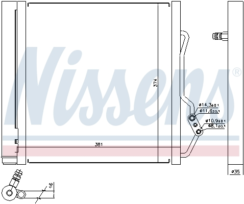 Kondenzátor klimatizace NISSENS 940192