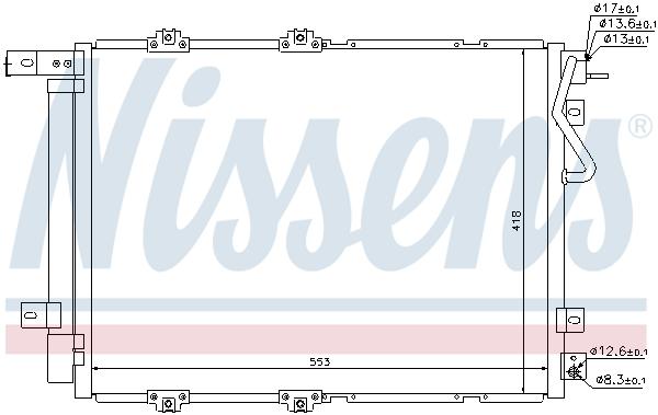 Kondenzátor klimatizace NISSENS 940203