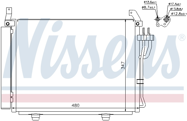 Kondenzátor klimatizace NISSENS 940205