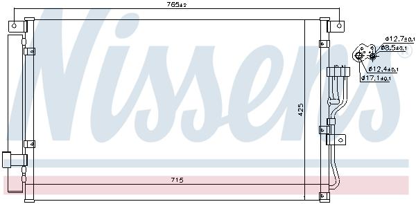 Kondenzátor klimatizace NISSENS 940210