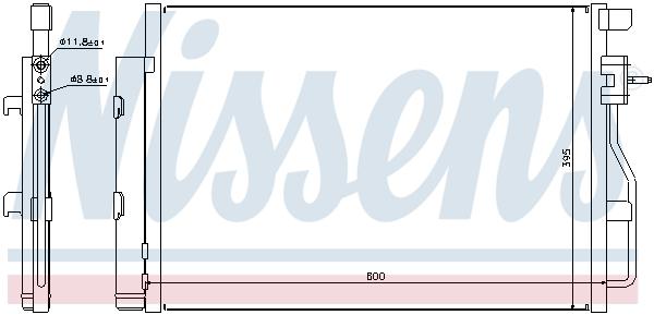 Kondenzátor klimatizace NISSENS 940246