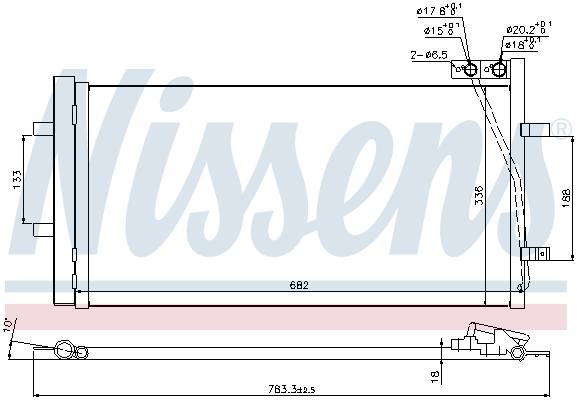 Kondenzátor klimatizace NISSENS 940255