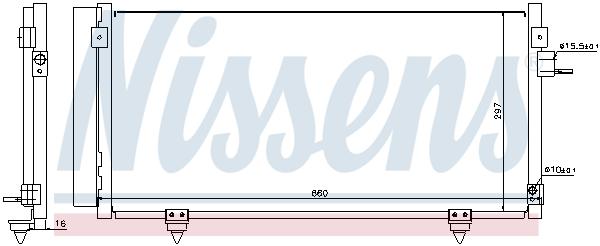 Kondenzátor klimatizace NISSENS 940257