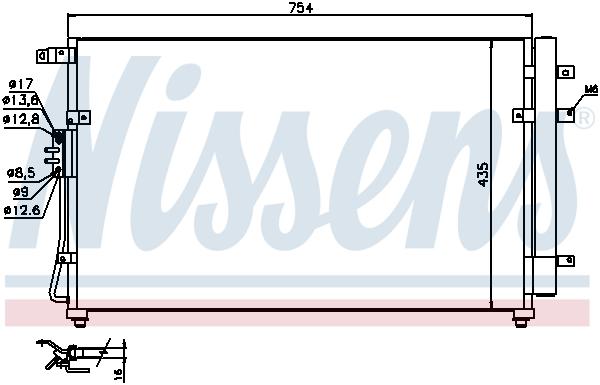 Kondenzátor klimatizace NISSENS 940269